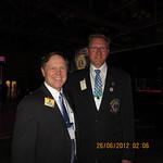 Onnittelin 2. kansainväliseksi varapresidentiksi valittua Joe Prestonia ja toivotin hänet tervetulleeksi Suomeen