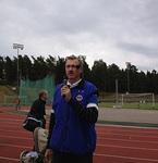 Kuuluttajana LC Helsinki/Soihtujen järjestämässä Lasten urheilutapahtumassa Vuosaaren urheilukentällä syyskuun alussa 2012